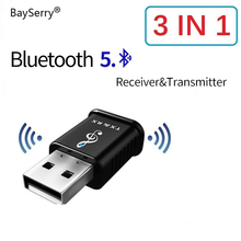 Bluetooth 5.0 Audio Receiver Transmitter 2 In 1 AUX RCA USB 3.5mm Mini Stereo Bluetooth Jack For TV PC Car Kit Wireless Adapter