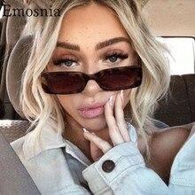 2020 Vintage rectángulo gafas de sol de las mujeres de moda de los hombres de leopardo Retro marrón gafas de sol de mujer gafas de UV400 de alta calidad