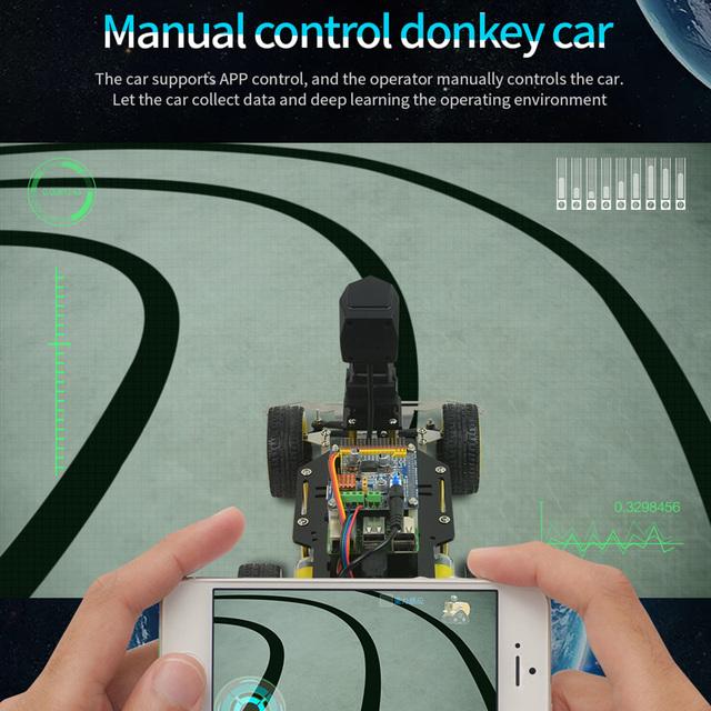 Osioł samochód inteligentny AI linia obserwator Robot Opensource DIY własna platforma jazdy dla Raspberry Pi RC samochód edukacja zabawka prezent dla dziecka tanie i dobre opinie Electric Dorośli 14 Lat i up Sport Fantasy i sci-fi Transport 2741312 Programmable Toys Games
