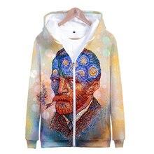 Толстовка с капюшоном Мона Лиза Ван Гога художественная рубашка