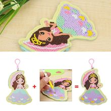 Diamond Painting  Special Shaped Girl Wallet Purse Keychain