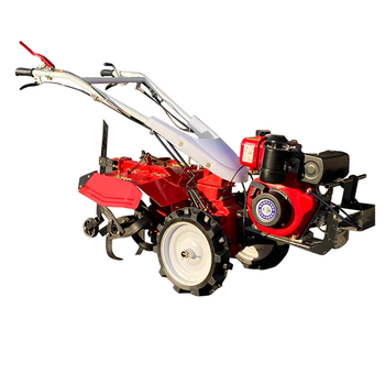 Rotary powerful tiller 12 horsepower diesel micro tillage small tractor trenching soil tillage machine walking tractor 15hp rotary tiller tractor single cylinder diesel engine agricultural small tractor