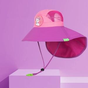 Image 1 - Kocotree bebek erkek kız güneş koruma yüzmek şapka çocuk güneş koruyucu şapka açık havada kap Unisex eğlence yaz kap çocuklar için