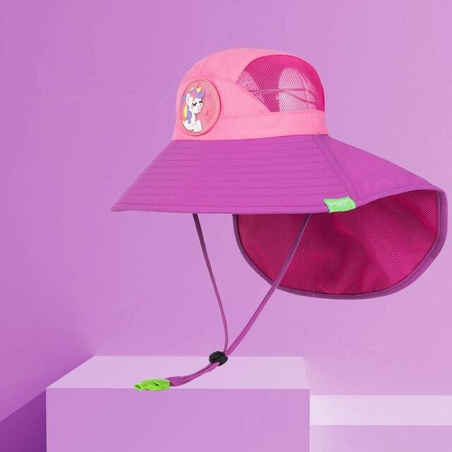 Kocotree bebek erkek kız güneş koruma yüzmek şapka çocuk güneş koruyucu şapka açık havada kap Unisex eğlence yaz kap çocuklar için