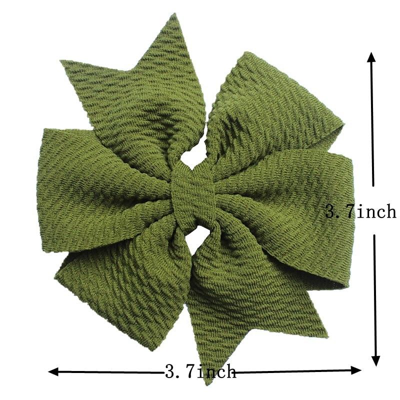Банты для волос с Вафельной текстурой, 4 дюйма, 60 шт./лот