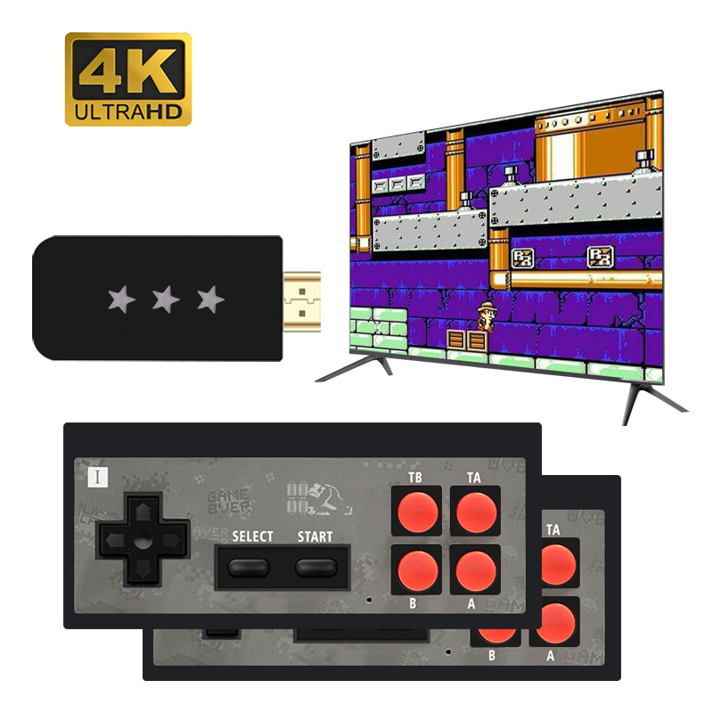 Build In 568 Classic 8 Bit Game mini Console Dual Gamepad  USB Wireless Handheld TV Video Game ConsoleHDMI Output