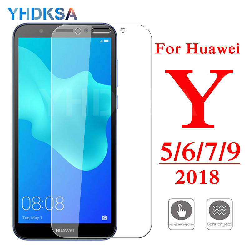 9H Protective Tempered Glass On For Huawei Y5 Y6 Y7 Y9 Prime 2018 2019 Screen Protector Huawei Y5 Lite Safety Glass Film Case