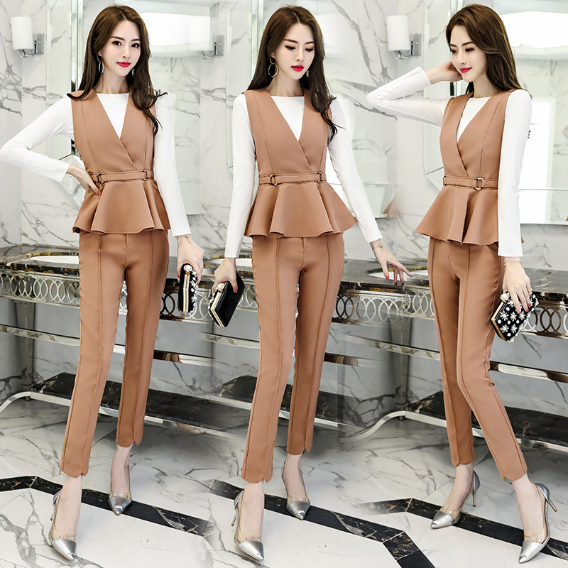 Set/Suit Skirt Fashion Fashion Tops And Trousers Elegant Elegant Korean-style 2018 Spring