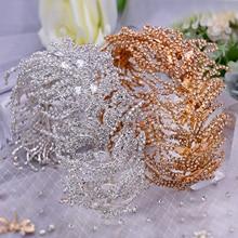 Hair Tiara Women Wedding Hair Accessories Bridal Headband Rhinestone Wedding Headpiece Bride Hair Pieces Hair Tiara Bridal Clips