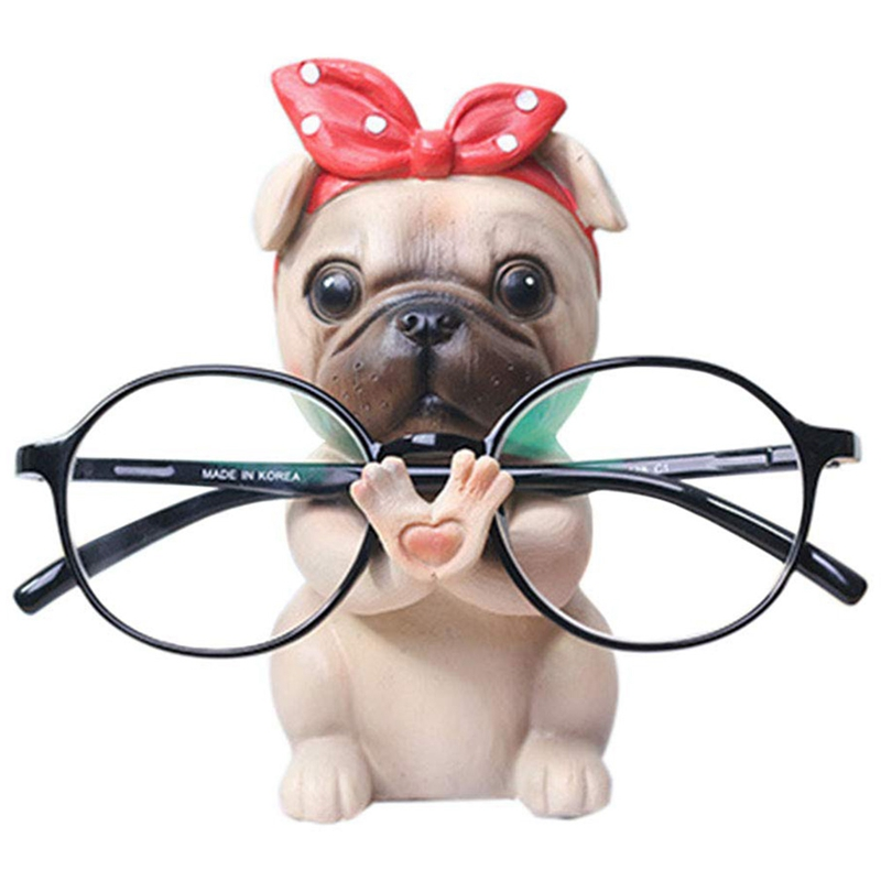 Puppy Dog Glasses Holder Stand Eyeglass Retainers Sunglasses Display Cute Animal Design Gift