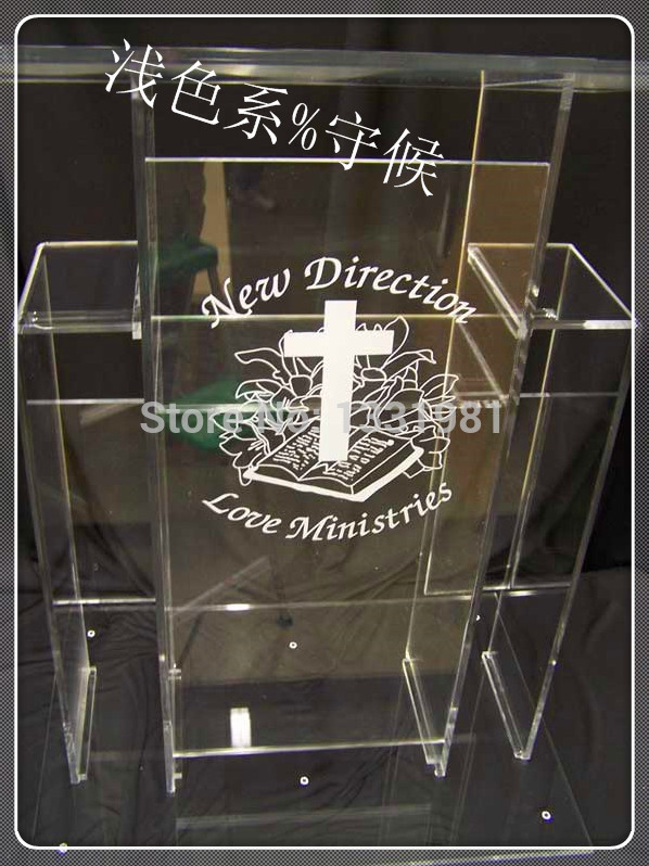Hot Selling/Detachable Acrylic Lectern With Aluminum Stands, Acrylic Pulpit, Acrylic Podium