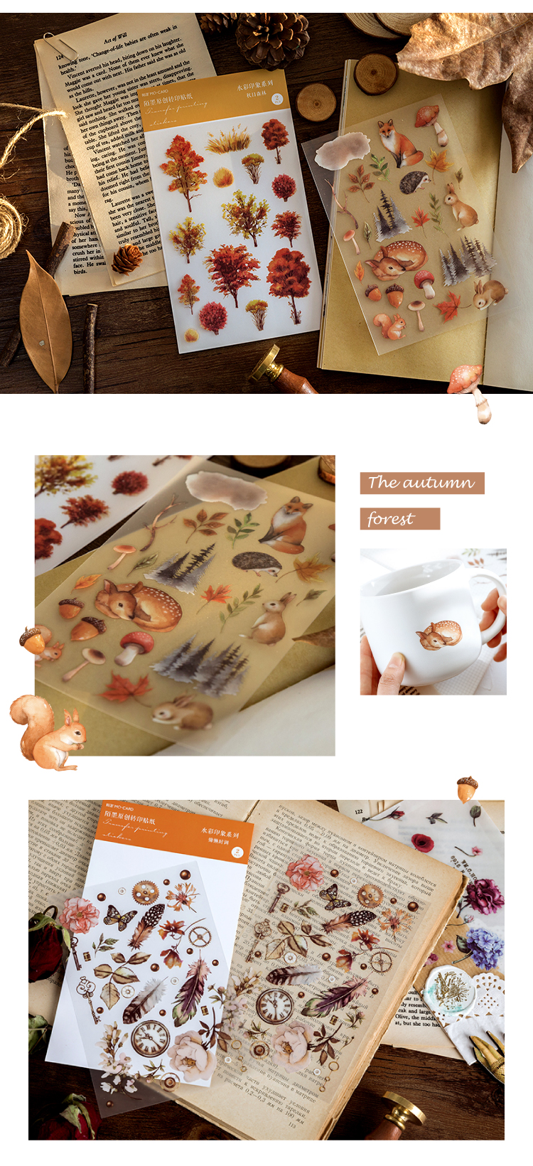 20 set lote adesivos de papelaria kawaii