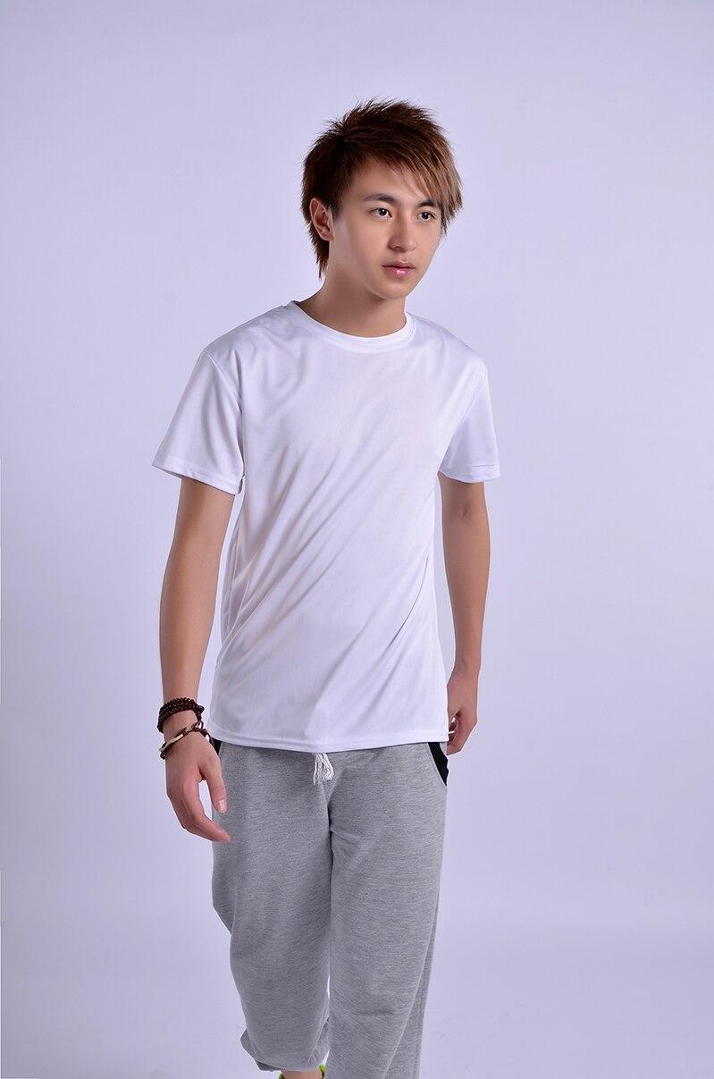 5pcs/lot Sublimation Blank Man T-shirt White Modal T shirt S,M,L,XL,XXL Design Heat Press Dye sublimation ink Transfer