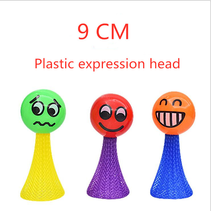Image 2 - Decompression toys Jumping Doll Kids Bounce Ball Toys Educational Game Expressions Push&DownToys Gifts for Children Random-in Craft Toys from Toys & Hobbies