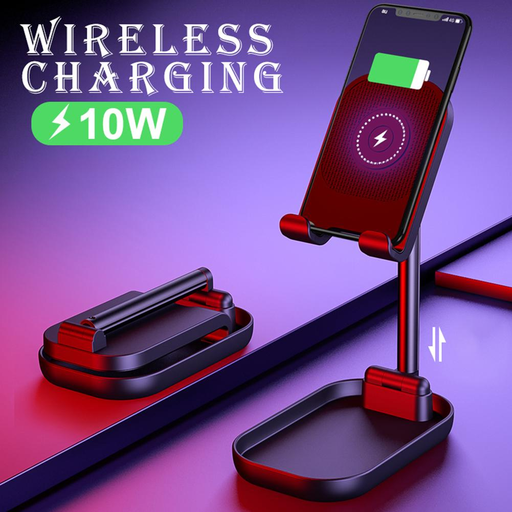 Phone Stand Adjustable Tablet Phone Holder Desktop Stand Wireless Charge Bracket Phone Holder With Wireless Charging Cable