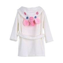 Фланелевый Халат для детей, домашняя одежда, прекрасный единорог для малышей, халат, badmodis badjas dinosaurio dinosaurios buho