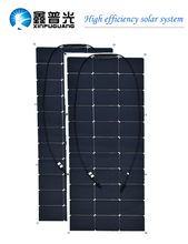 200w 12v Solar System 2pcs 100w Semi Flexible Solar Panel Monocrystalline Silicon Cell Module for Car RV Yacht Boat Home Power kinco 120w 18v semi flexible solar panel monocrystalline silicon folding solar system power supply for car battery charger