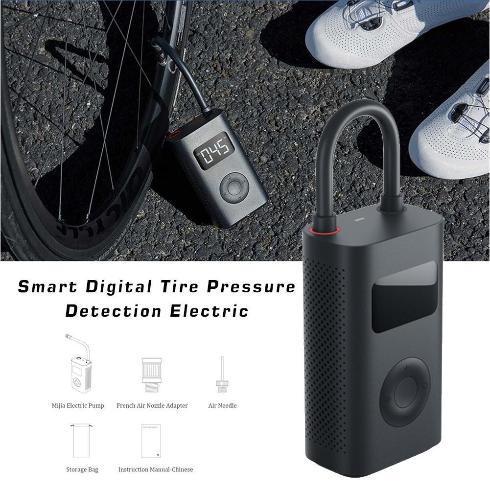 Pump Portable Smart Digital Tire Pressure Detection Electric Inflator Pump For Xiaomi Mijia Bike Motorcycle Car Football