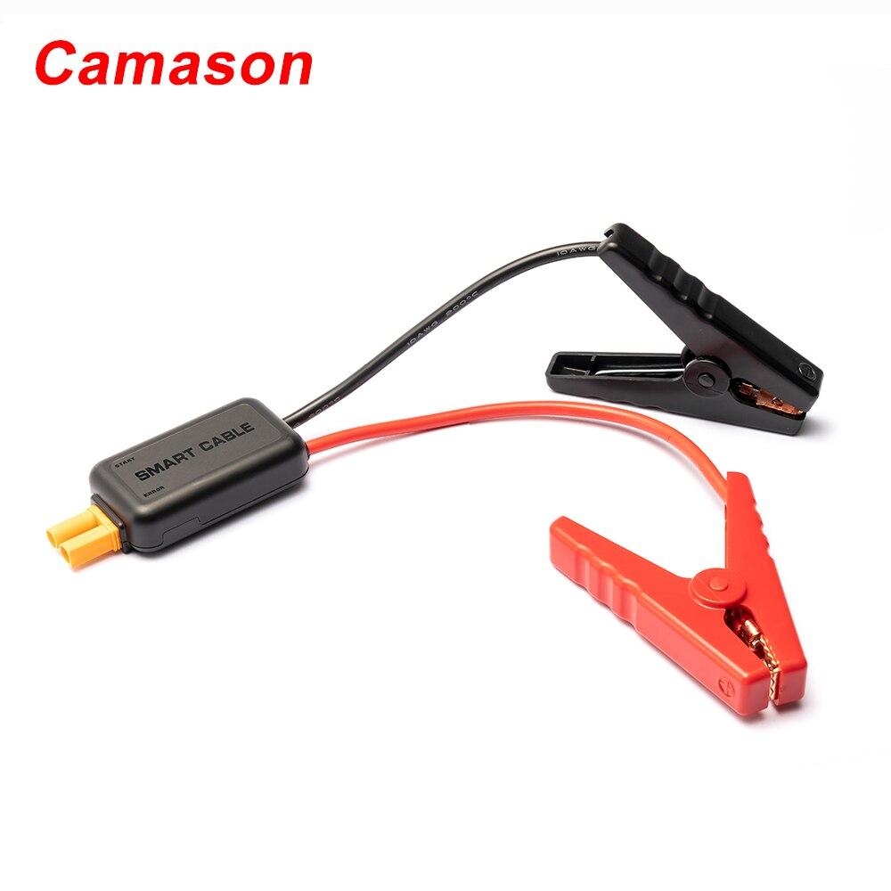Camason חכם לרכב קפיצת Starter Booster כבלים אוטומטי חירום רכב סוללה מהדק אביזרי אדום-שחור חוט קליפ