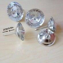 50 pcs/lot de boutons en cristal strass acryliques 18-30mm pour rembourrage, clous pour canapé lit, tête de lit, décoration de meubles, livraison gratuite