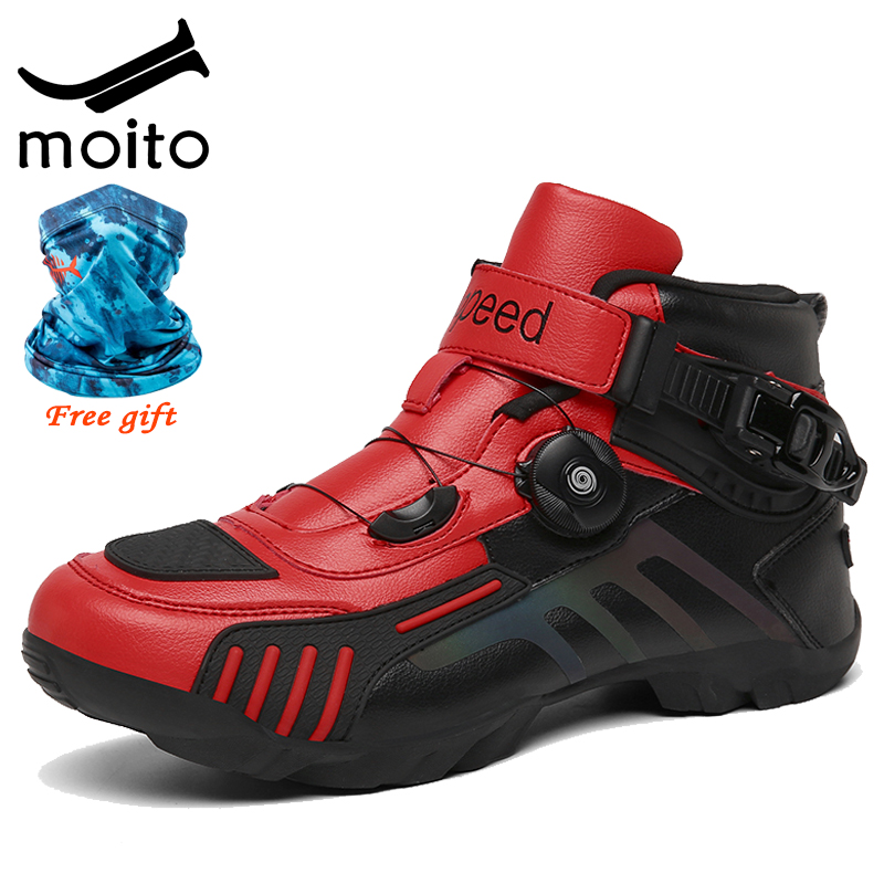 Зимние велосипедные ботинки для горных велосипедов, высокие кроссовки для дорожных велосипедов, профессиональная самозакрывающаяся велос...