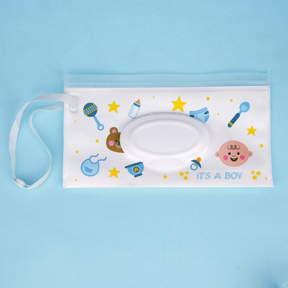 Quaslover Экологичная коробка для детских салфеток, коробка для влажных салфеток, чистящие салфетки, сумка для переноски, чехол-раскладушка с ремнем - Цвет: D