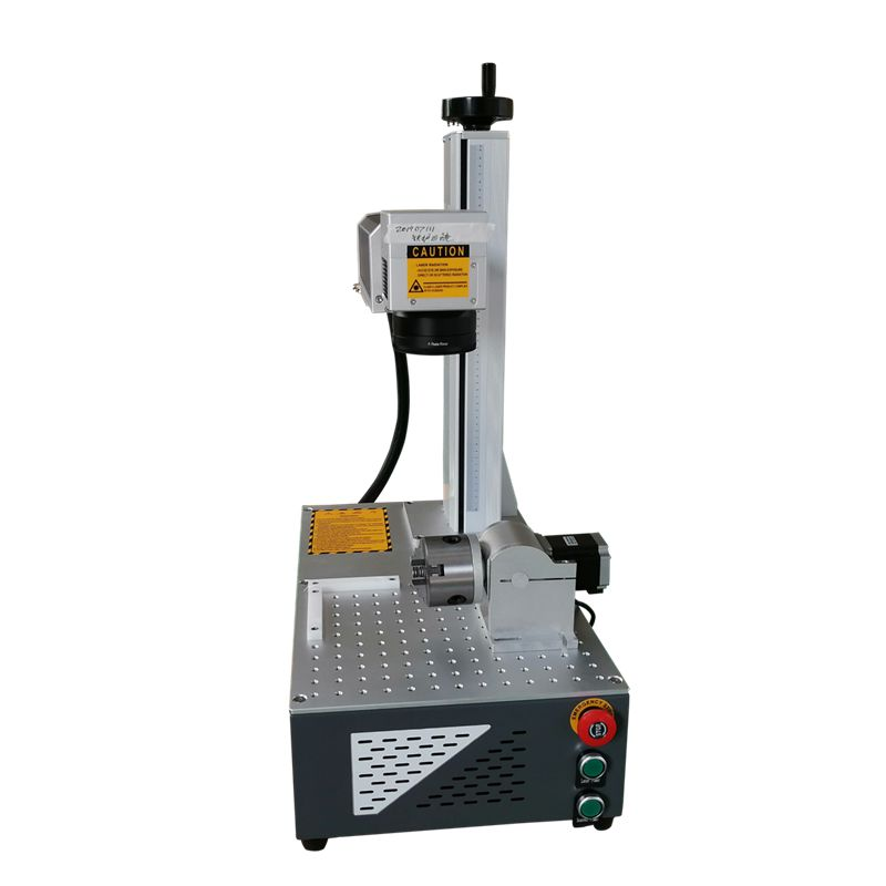 laser marker 20W 30W raycus marking machine nameplate stainless steel metal cnc rotary axis included