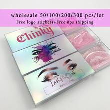 wholesale 3d mink lashes case eyelash packaging box lash boxes packaging custom logo plastic sliding clear custom lash boxes