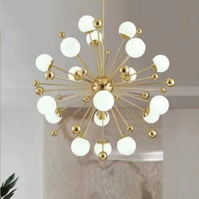 Modern Deco Chambre Industrial Lamp Glass Ball  LED  Pendant Lights Industrial Lamp