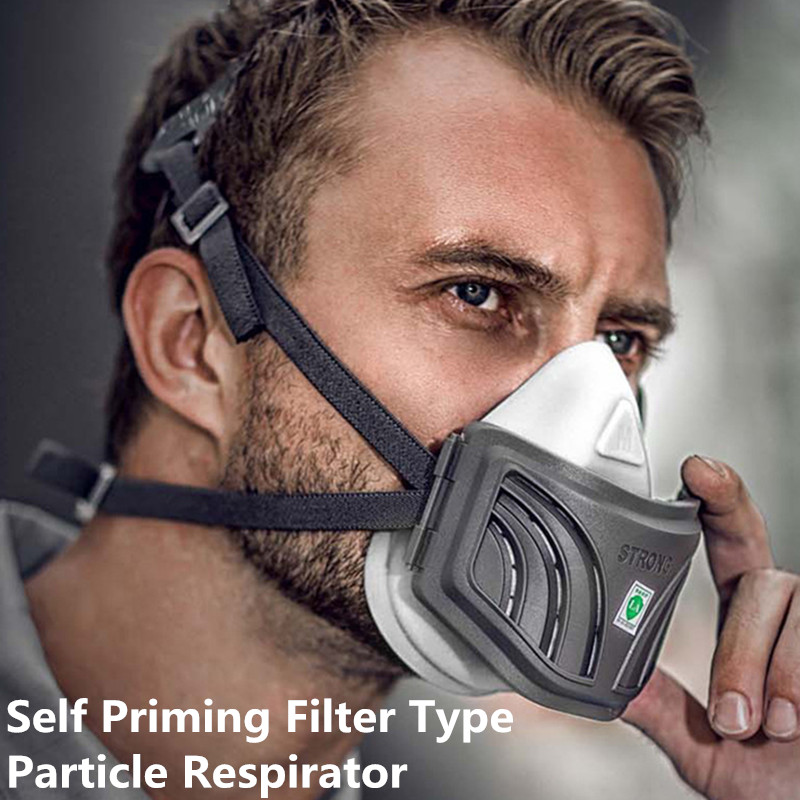 High Efficiency Self Priming Particulater Respirator Industrial KN95 KP95 Ffp 3 Dustproof Washable Protection Respirators