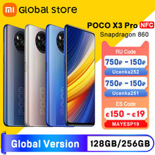 In Stock Global Version POCO X3 Pro 6GB 128GB 8G 256GB NFC Smartphone Snapdragon 860 33W Quad AI Camera 120Hz DotDisplay 5160mAh cheap Not Detachable CN(Origin) Android Side-mounted Face Recognition 48Mp Adaptive Fast Charge USB-PD english Russian German