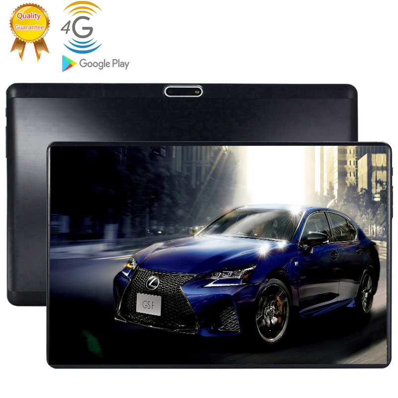 MTK6753 10.1 Inch Tablet PC Octa 8 Core Android 9.0 WiFi Dual SIM Cards 4G LTE Tablets 6GB RAM 64GB ROM HD Resolution 1280X800