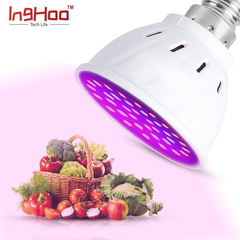 Inghoo Led Grow Lamp Phyto Lamp E14/E27/GU10/MR16 Light Led For Plant 220V 110V Grow Light Red Blue For Plants Growth Phyto Lamp