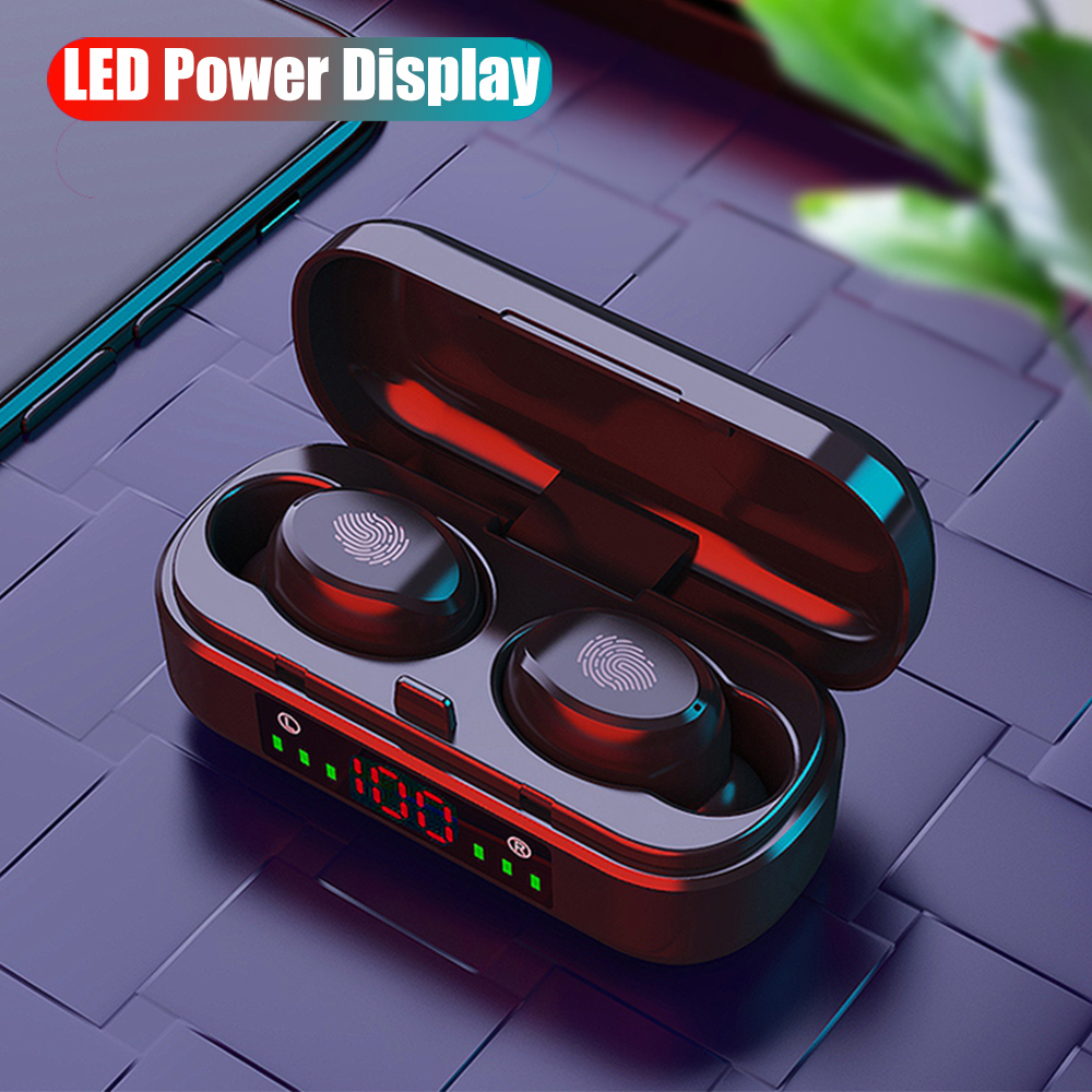 TWS 5 0 Bluetooth Earphone HD Stereo Waterproof Wireless Earphones with Charging Box LED Power Display Mini Earbuds for Phone