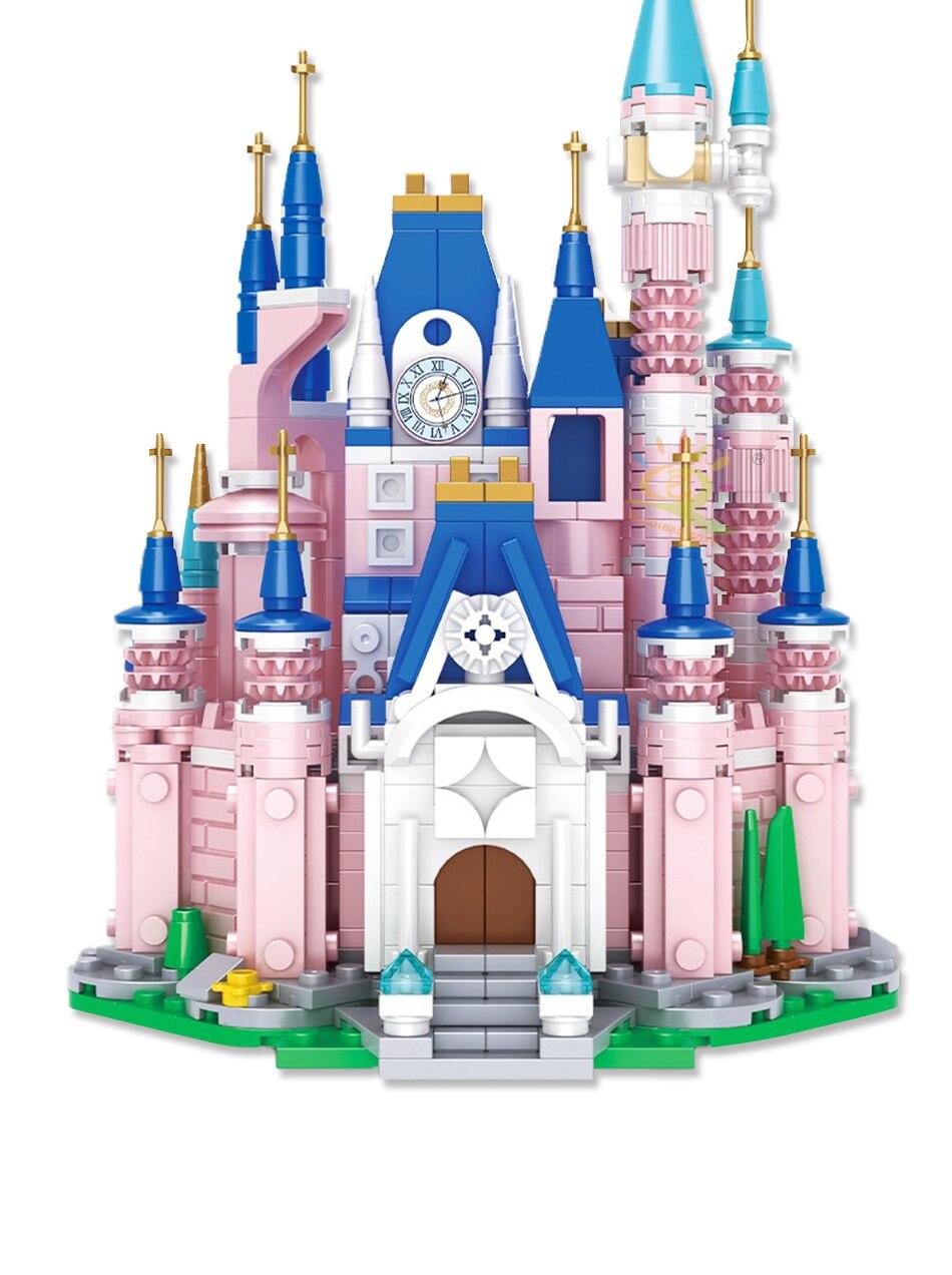 """конструктор huiqibao """"розовый замок"""", 596 шт."""