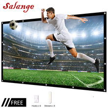 Salange Projector Screen Portable pantalla proyector 60 100 120 inch 16:9,Polyester Outdoor Movie Screen For Travel Home Theater