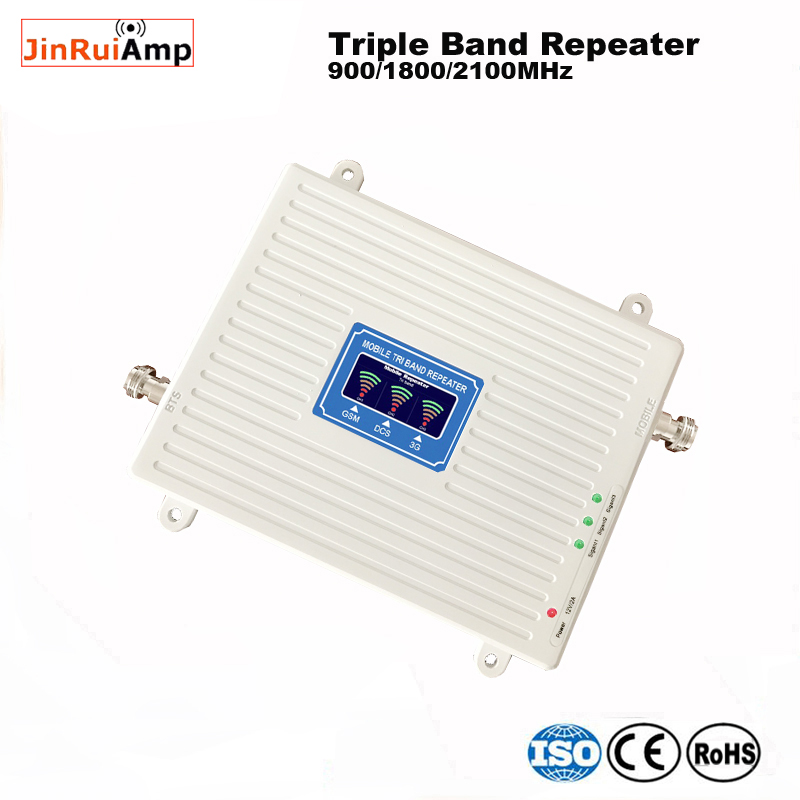 Image 2 - 2g 3g 4g repeater 900 1800 2100 Triple Band repeater gsm 900 dcs 1800 wcdma 2100 Cell Phone Signal Booster cellular amplifier-in Signal Boosters from Cellphones & Telecommunications
