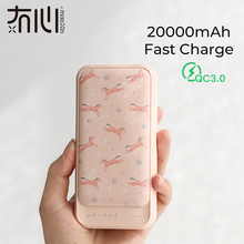 Maoxin pd power bank qc3.0 20000mAh type c quick charge dual input and output unicorn space cute mini portable charger powerbank