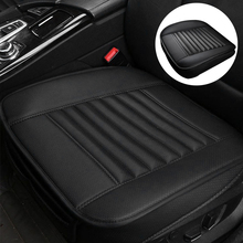 1pcs רכב מושב כיסוי ללא משענת עור מפוצל במבוק פחם אוטומטי מושב כרית מכוניות החלקה כיסוי מושב