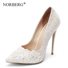 New women's shoes white lace high heels banquet wedding shoes bridal shoes pointed candy wild single shoes ladies office shoes new arrival women s beading lace flower wedding pumps high heels bridal bridesmaid s shoes white ivory banquet shoes 1541 jj