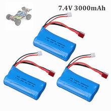 Original wltoys 144001 2s 7.4 v 3000mah bateria lipo atualizado recarregável para wltoys 1/14 144001 rc carro barco lipo bateria 1-5 pces