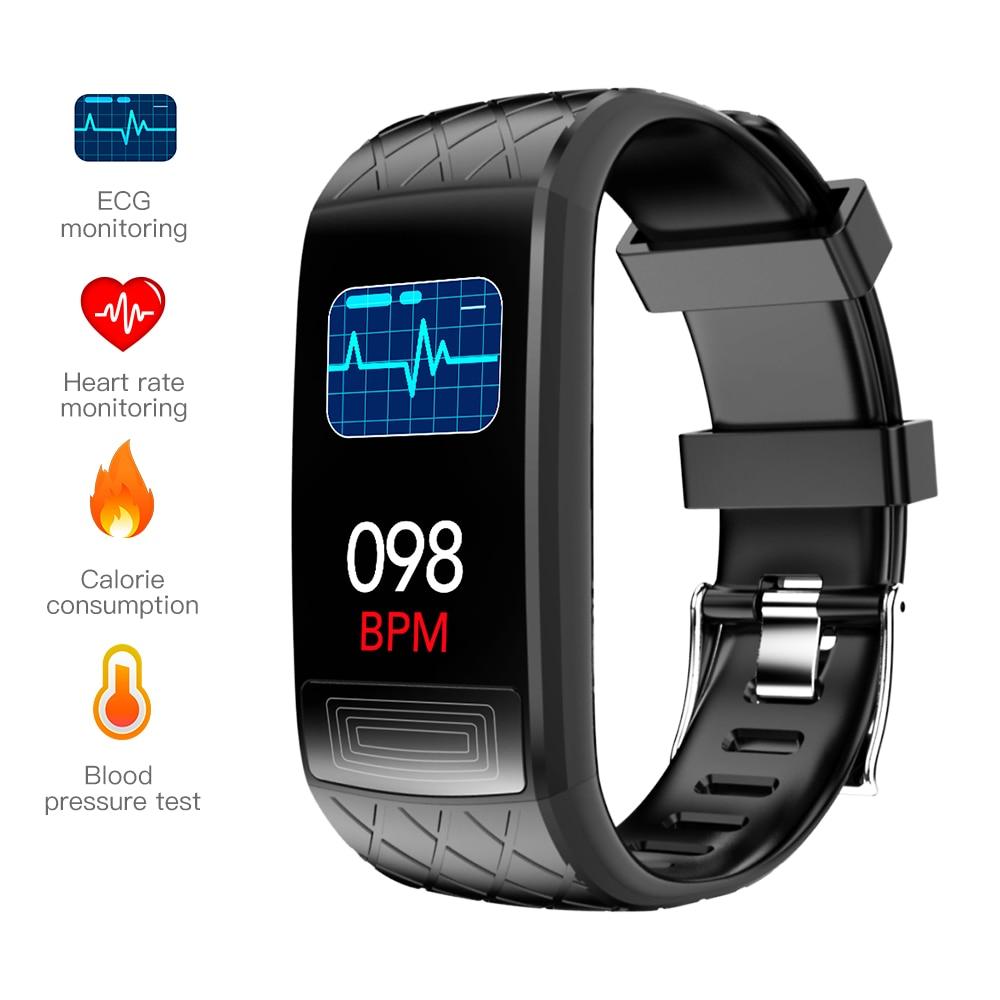 Monitor de Freqüência Rastreador de Fitness Smartband Pressão Arterial Banda Inteligente Cardíaca Ppg Ecg Pulseira Atividade Eletrônica V3e Mod. 1449392