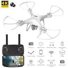 Rc quadcopter fpv selfie drones com 4k hd dupla câmera wifi altitude segurando headless profesional helicóptero vs x5c helicóptero