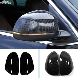 ABS Piano/Carbon Fiber Style For BMW X5 F15 X6 F16 2014 15 to 2019 Car Rearview Mirror Trim Decoration Shell Cover Protection