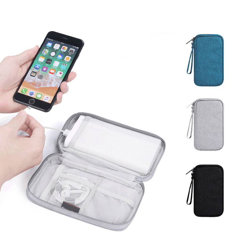 Travel Inserted Bag Digital Gadget Device Polyester Fiber Phone Case 19.7*11*4.5CM Multi-function Storage Bags Small Travel Kit