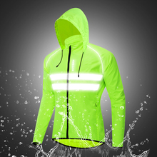 Men Bicycle Riding Sports Coat Jacket  Windproof Hooded Cycling Jacket Breathable High Visibility Reflective Bike Clothing authentic nike men s kobe blazer sport knit breathable jacket hooded coat grey green