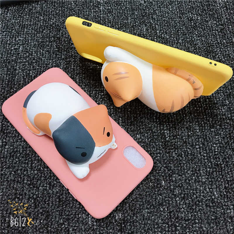 화웨이 노바 2 Lite 2i 2s 플러스 3 3e 3i 4 4e 3D 검은 고양이 장난감 새끼 고양이 키티 소프트 실리콘 캔디 커버 전화 케이스
