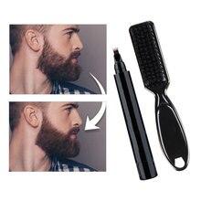 1 Set Beard Filling Pen Kit Barber Pencil With Brush Salon Facial Hair Engraving Styling Eyebrow Tool Male Mustache Repair Shape