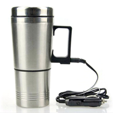 304 Stainless Steel Car Heating Cup Electric Water Cup Temperature Kettle Coffee Tea Milk Heated Soaked 300ML USB Heating Cup