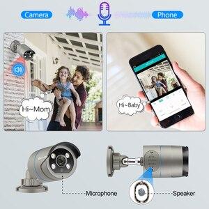 Image 4 - Techage 1080P POE IP Camera 2MP Home Smart AI Camera Outdoor impermeabile sicurezza Video CCTV telecamera di sorveglianza supporto ONVIF